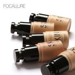 Wholesale bb liquid cream - FOCALLURE Face Foundation Makeup Base Liquid Foundation BB Cream Concealer Whitening Moisturizer Oil-control Maquiagem FOCALLURE skin