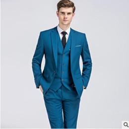 33e4de67707 2018 New Formal Tuxedos Suits Men Wedding Suit Slim Fit Business Groom Suit  Set S-4 XL Dress Suits Tuxedo For Men (Jacket+Pants+Vest)