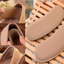 Wholesale Memory Foam Pad Shoe Inserts - Sticky Fabric Shoe Pads Fabric Shoe Back Heel Inserts Insoles Pads Cushion Protect Back Heel Liner Grips