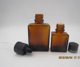 Bouteilles de parfum peintes en Ligne-Bateau libre Painted Amber flacon compte-gouttes en verre 30 ml huile essentielle preuve bouteille enfant carré / rectangle forme parfum verre bouteille d'huile en gros