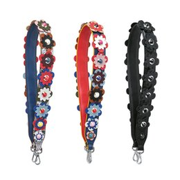 Strap Spring You Flowers Authentic Genuine Leather Per Peekaboo Bag Handbag Accessori Stripe da
