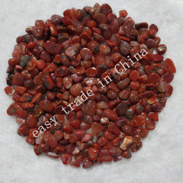 Wholesale Flat Round Onyx - 10mm 50g South Onyx Red Agate Chips Quartz Tumbled Gemstone Aquarium Crystals C72