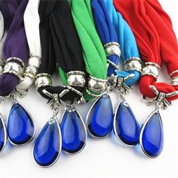 2019 encantos cuadrados de tela Blue Rhinestones Scarf Tassels Jewelry Fibra de poliéster de metal Summer Spring Lady Popular Solid Color Charm Bufandas Mujeres 11ld dd