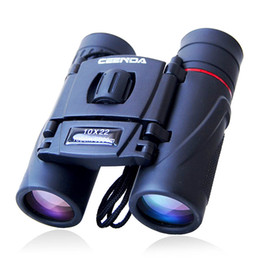Wholesale night vision infrared telescope - Binoculars 10X22 high HDT pocket night vision non infrared telescope waterproof binoculars Zoom Monocular Binoculars Optic Lens Telescope Da