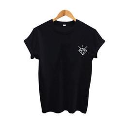 40f7b6769 black diamond tshirt Promo Codes - Women s Tee Diamond Tshirt Women  Printing T Shirt Summer Fashion