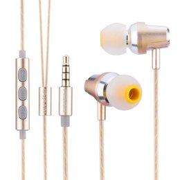 telefone tri sim Desconto Fone de ouvido estereofónico HIFI do metal da cercadura da Tri-faixa que isola fones de ouvido para o telefone
