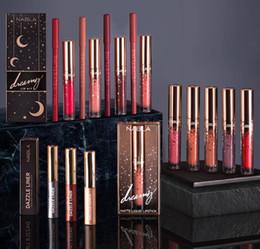 Labio barato online-Precio barato Nabla lápiz labial líquido 10 colores Nabla labio brillo de labios estrella maquillaje labios belleza de alta calidad mate duradero lápiz labial