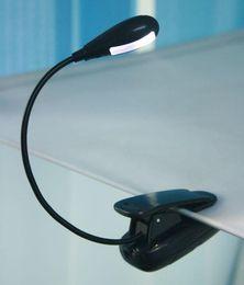 Портативный Ультра яркий 2 LED свет книги двойной LED гибкий клип на лампу для чтения электронных книг книги ноутбук высокое качество быстрый корабль от