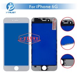 Wholesale Cheap Bar Glasses - Bezel Touch Screen with Frame for iPhone 6 6G Front Touch Panel Glass Lens Cheap Phone Accessories+ Free DHL Shipping