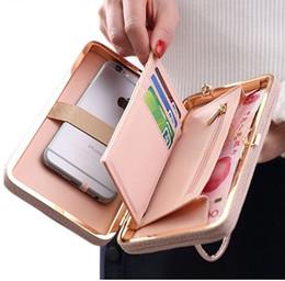 Роскошные женщины кошелек телефон сумка кожаный чехол для iPhone X 8 7 6 S Plus для Samsung Galaxy S7 Edge S6 Xiaomi Redmi от