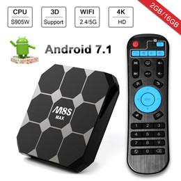 2019 caja bluetooth 4K M8S Max Android 7.1 TV Box Amlogic S905W 2Gb / 16Gb Android 2.4G / 5G WiFi Bluetooth M8 Upgrade Media Player rebajas caja bluetooth