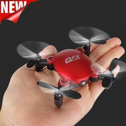 Профессиональная вертолетная камера rc онлайн-QFX MINI Drone Q2 Selfie RC Вертолеты Дроны Профессиональный Nano Складной карманный беспилотный мини с Wifi FPV Воздушная камера