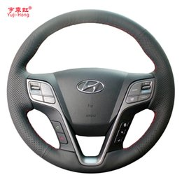 Coperture auto di hyundai online-Custodia in pelle artificiale Yuji-Hong per custodie per Hyundai SantaFe 2013 Grand IX45 copertura cucita a mano