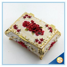 Wholesale Gift Boxes For Shoes - Wedding Gifts Rose Design Ring Holder Jewelry Box Collection Box for Jewelries