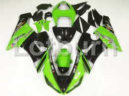 Wholesale Kawasaki 636 Plastics - Bodywork Moto Fairings Fit For Kawasaki Ninja ZX6R 636 ZX-6R 2005 2006 05 06 Fairing kit Custom Made High Quality ABS Plastic A91