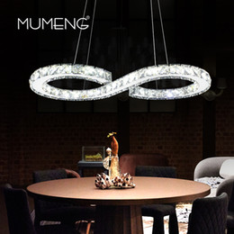 Wholesale Wedge Rings - MUMENG Modern Chrome Chandelier Crystals Diamond Ring 24W LED Lamp Stainless Steel Hanging Light Fixtures Adjustable Cristal