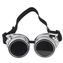 19a440affa15f gothic cyber goggles 2019 - Cyber Goggles Steampunk Glasses Vintage Retro  Welding Punk Gothic Sunglasses Stylish