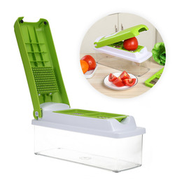 Wholesale vegetable fruit peeling - Kitchen Fruit Vegetable Food Slicer Cutter Grater For Diced Multifunctional Cutting Slicing Peeling Vegetable 12pcs Crisper