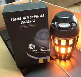 Wholesale mini led speaker - 2018 creative fashion, waterproof and dustproof Bluetooth sound box led flame lamp cafe bar atmosphere lamp business gift lamp
