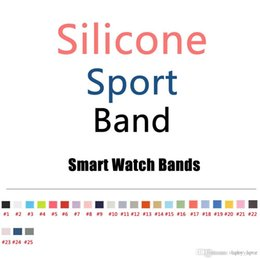 Wholesale Replacement Straps - OEM New Design 25 Colors More Silicone Sport Band Replacement For Apple Watch Band Wrist Strap With Adapters Accessories OEM Product Service