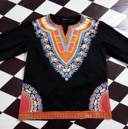 Wholesale cheap printed blouses - African Traditional Clothingi Cotton Cheap Fashion Design Classic Male Blouse Africa T Shirts Dashiki Tops Traditional African Clothing For