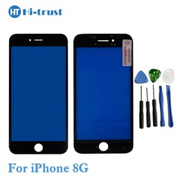 Wholesale Outer Frame - Outer Glass with Middle Frame Bezel For iPhone 8 8Plus Front Glass Lens with Free shipping