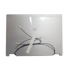 Nuovo coperchio posteriore per LCD per laptop Coperchio posteriore argento con cavo per HP EliteBook 2540P Supporto per RAM per memoria RAM 598801-001 HDD S0P73 cheap laptop lcd back cover da copertura posteriore del computer portatile fornitori