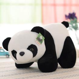 Wholesale lifelike dolls china - Crawing Plush Panda Toy Stuffed Panda Doll 11.7in. China Stuffed Animal Simulated Lifelike Panda Decor Toy Kids Gift