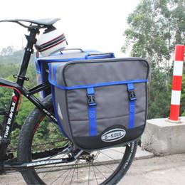 portaequipajes de bicicleta Rebajas B-SOUL 20L impermeable bolso de la bicicleta alforjas de un solo lado posterior del estante de la cola del asiento del tronco del bolso del alforja con la lluvia bolsa bolsas de la bici 2 color