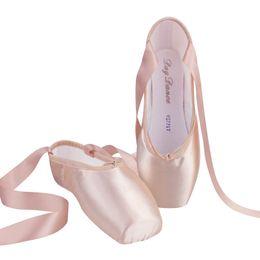 2019 collants de ballet rose Filles chaussures de pointe de ballet dames femmes adultes chaussures de danse de ballet satin professionnelles avec ruban