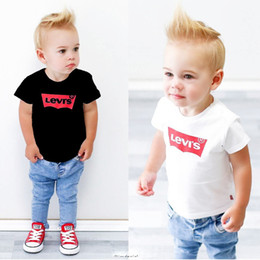 Wholesale zebra t - Spring Luxury Logo Designer Baby Boy's t-shirt Pants Two-piece Suit Kids Brand Children's 2pcs Cotton Clothing Sets Baby Boy's Cowboy Sets