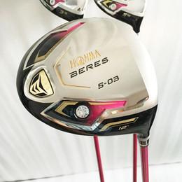 golfe honma Desconto New Womens Golf motorista HONMA S-03 3 estrelas driver clubes 12 loft Golf Clubs motorista com grafite Golf eixo frete grátis