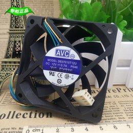 Wholesale Avc Fan Cpu - Free shipping AVC 7015 DE07015T12U 12V 0.7A 4Wire pwm computer CPU Cooler Cooling Fan