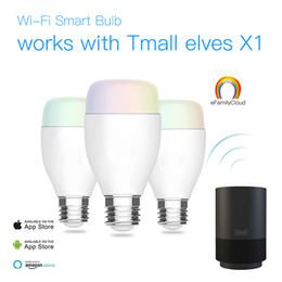 Temporizador rojo online-La bombilla LED inteligente de WiFi 6W E27 Dimmable 16000K colorea los temporizadores Alexa trabaja con Smart HomeKit en red 2.4Ghz