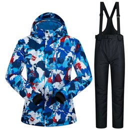 Printed women snow suite Climbing WATERPROOF snowboard jacket female and snow  pants lady sets sports suits new winter 21c4fe321