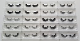 Wholesale fast d - 1 Pack 20 Styles Selectable Fast Free Shipping DHL EMS OEM Custom Acceptable 3D Multi-Layered Real Mink Hair Fur Eyelashes Messy Eye Lashes