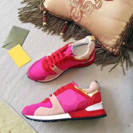 Wholesale popular men shoes brand - popular brand Designer sneakers leather trainers Women men casual shoes fashion Mixed color with box xz157