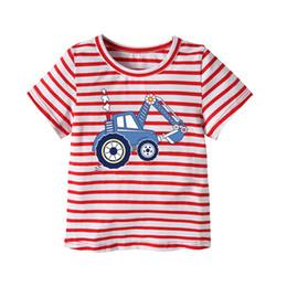 Wholesale Fund Wholesaler - 2018 Summer Fashion Fund Lovely Small And Medium Catamite Short Sleeve Jacket Children Printing Leisure Time Children's Garment T Pity boy