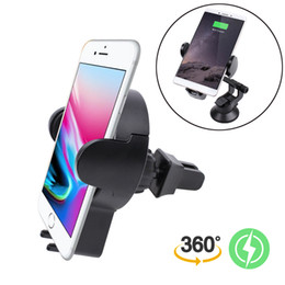 Wholesale Usb Chager - Wireless Chager Car Mount Qi Fast Chaging 360° Adjustable Strong Sticky Gel Pad for Car Phone Holder