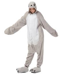 Wholesale adult sea costume - Unisex Adult Cartoon Cosplay Seal Jumpsuit Sleepwear Pajamas Sleepwear Sea Lion