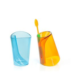 Wholesale Gargle Cup - 2 in 1 wash gargle cup toothbrush mugs antiscale innovative toothbrush water cup