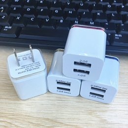 2019 adaptador de teléfono doble Hot 5V 2.1 + 1A Doble USB AC Travel US Wall Charger Plug Cargador Dual para Samsung Smart Phone Adapter DUS1 rebajas adaptador de teléfono doble