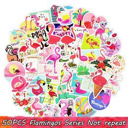 50 шт. фламинго наклейки симпатичные творческие наклейки для детей DIY ноутбук чемодан велосипед багажа гитара наклейки от Поставщики apple latest