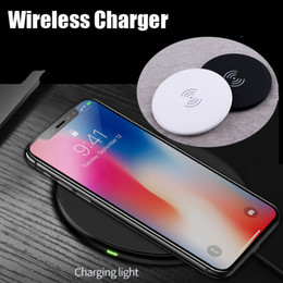 Wholesale Qi Wireless Charging Pad Black - Fast Charger For Iphone 8 X 9V 1.67A 5V 2A Quick Qi Charger wireless charger Charging Pad Black and White With box
