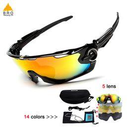 2018 велоспорт очки 5 объектив MTB велосипед спорт велосипед солнцезащитные очки новый открытый солнцезащитные очки и поляризованные pesca очки рыбалка от Поставщики дешевые дизайнерские солнцезащитные очки