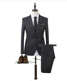 Canada Costume pour homme deux pièces (manteau + pantalon) à la mode, robe de costume de mariage marié mince, exécution exquise, à la mode. supplier exquisite dresses Offre