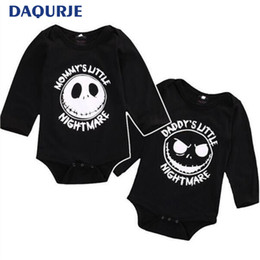 206f53db502f9 China 0-24M Halloween baby clothes Cartoon skull bodysuit infantil long  sleeve baby girl boys