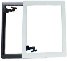 Adhesivo digitalizador 3m online-Nueva llegada de alta calidad digitalizador para iPad 2 Asamblea de pantalla táctil con adhesivo 3M sin botón de inicio en blanco y negro 1 UNIDS Epacket libre