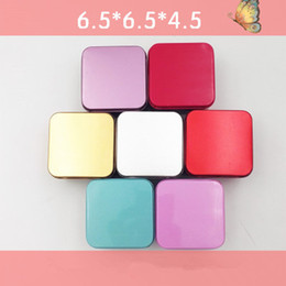 Wholesale High Quality Candy Boxes - High Quality Colorful Tea Caddy Tin Box Jewelry Storage Case Square Metal Mini Candy Box YYA989
