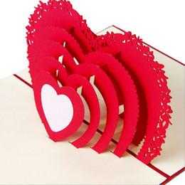 Deutschland 3D Pop Up Karte handgemachte Liebe Herz Jahrestag Valentine Geburtstag Weihnachten Postkarte New Drop Schiff Versorgung
